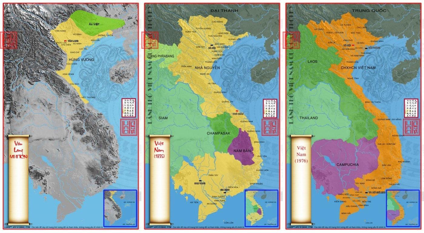 Bản đồ lãnh thổ Việt Nam qua các thời kỳ (Phần 1)