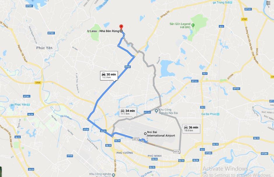 Hướng dẫn đường đến khu Nhà bên rừng U Lesa ngay sát Hà Nội