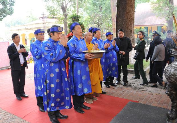 Tái hiện nghi lễ cúng tiễn ông Công, ông Táo tại Hoàng thành Thăng Long